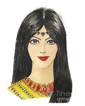 Beautiful Arabic woman. perfect makeup and accessories by Rasirote Buakeeree