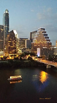 Beautiful Austin at Night by Doreen Whitelock