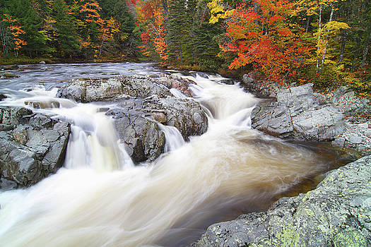 Beautiful autumn waterfall on Cape Breton Island Nova Scotia by Scott Leslie