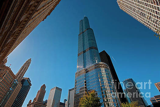 Beautiful buildings Chicago Trump Tower JELE3002 by Tom Jelen