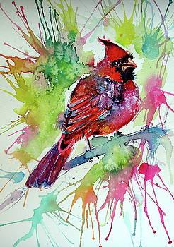 Beautiful cardinal bird by Kovacs Anna Brigitta