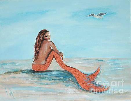 Beautiful Copper Mermaid by Leslie Allen