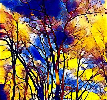 Brenda Plyer - Beautiful Day 3 Blue and Yellow