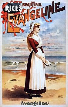 Beautiful Evangeline, performing arts poster, 1896 by Vintage Printery