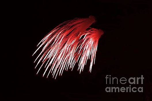 Beautiful fire works with splash of red color.  by Akshay Thaker 'PhotOvation'