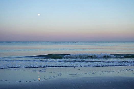 Toby McGuire - Beautiful Full Moon Surise on Naples Beach Naples Florida