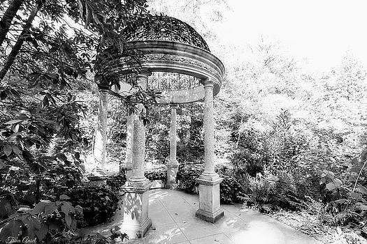Beautiful Gazebo in Black and White by Trina Ansel
