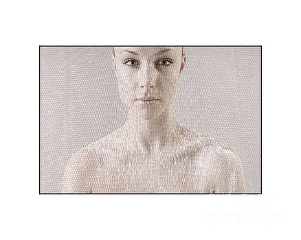 Beautiful girl's face and shoulders by Michael Edwards