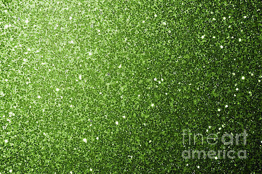 Beautiful Greenery Green glitter sparkles by PLdesign