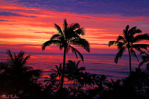 Beautiful Hawaiian Sunset by Michael Rucker