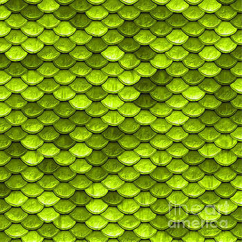 Tina Lavoie - Beautiful lime green mermaid fish Scales