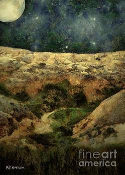 Beautiful Night in the Badlands by RC deWinter
