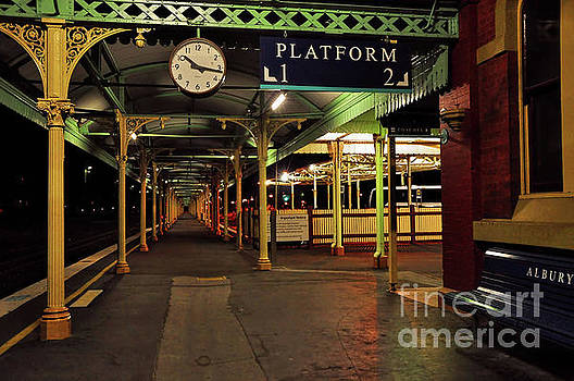 Beautiful Old Albury Station by Kaye Menner by Kaye Menner