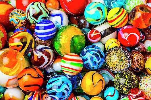 Beautiful Pile Of Marbles by Garry Gay