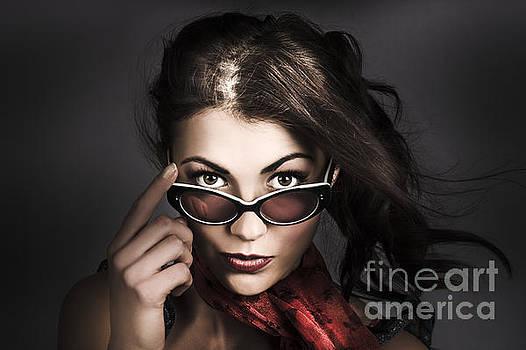 Beautiful pinup woman. Dark 50s fashion portrait by Jorgo Photography - Wall Art Gallery