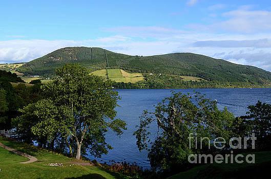 Beautiful Rolling Hills Surrounding Loch Ness in Scotland by DejaVu Designs