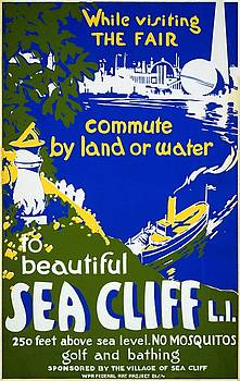 Beautiful Sea Cliff Long Island WPA poster 1939 by Vintage Printery