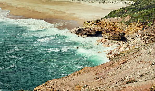 Beautiful shore of Nazare, Portugal by Zina Zinchik