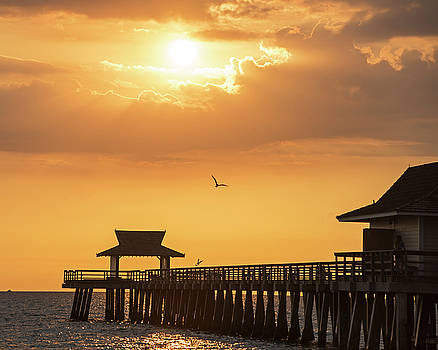 Toby McGuire - Beautiful Sunset over the Naples Pier Naples Florida