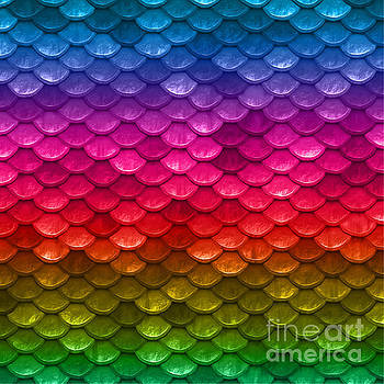 Tina Lavoie - Beautiful vibrant rainbow colors mermaid fish Scales