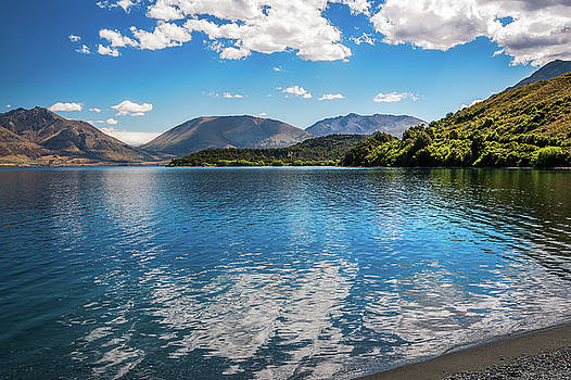 Beautiful View of Lake Wakatipu at Wilson Bay by Daniela Constantinescu