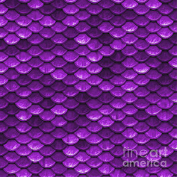 Tina Lavoie - Beautiful violet mermaid fish Scales