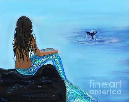 Beautiful Morning Whale Watcher by Leslie Allen
