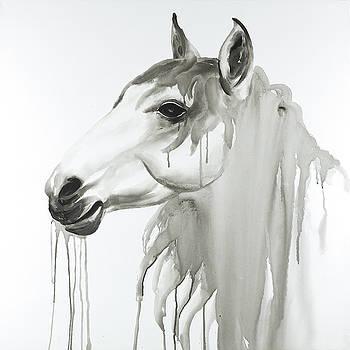 Beautiful White Horse by Atelier B Art Studio