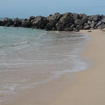 Beautiful White Sand Beach At Fort by Sarah Marie