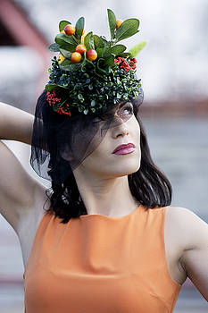 Beautiful woman with interesting hat by Newnow Photography By Vera Cepic