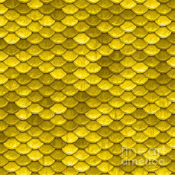Tina Lavoie - Beautiful yellow mermaid fish Scales