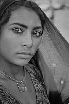 Beautiful Young Nomad Girl by Karan Anand