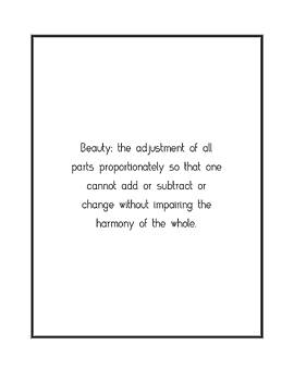 Beauty the adjustment of all... by Famous Quotes