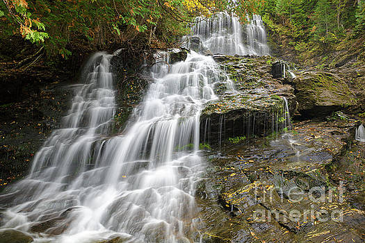 Beaver Brook Falls - Colebrook New Hampshire by Erin Paul Donovan