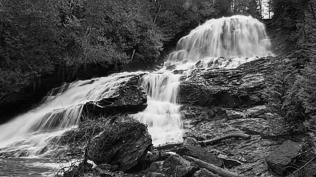 Beaver Brook Falls by David Hufstader