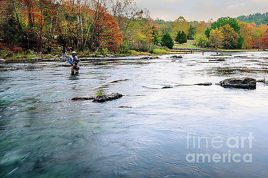 Beaver's Bend Fly Fishing by Tamyra Ayles