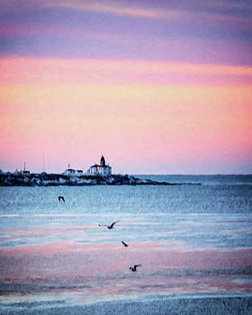 Beavertail Lighthouse Impressionistic by Vicki Jauron