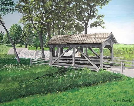 Beckman Mill Footbridge by Norm Starks