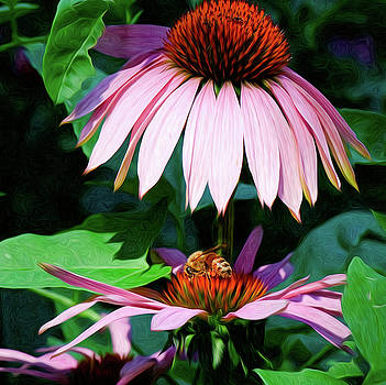 Bee at work by Kenneth Eis