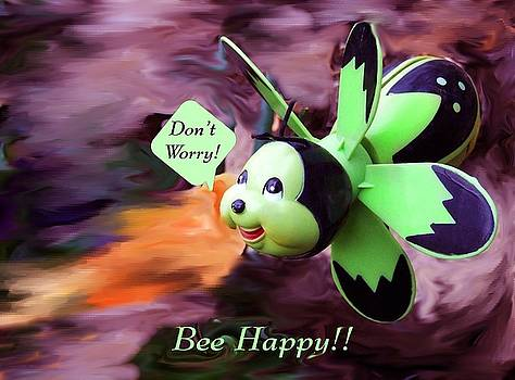 Bee Happy 2 by Jim  Darnall