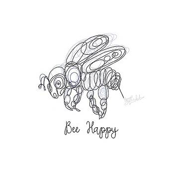 Bee Happy Sketch  by OLena Art Brand