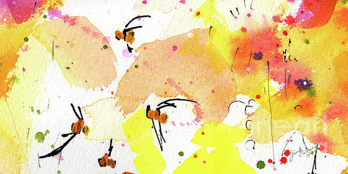 Ginette Callaway - Bee Leave Me Macro Watercolor And Ink 2