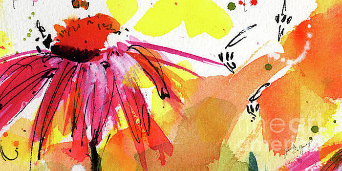 Ginette Callaway - Bee Leave Me Macro Watercolor and Ink