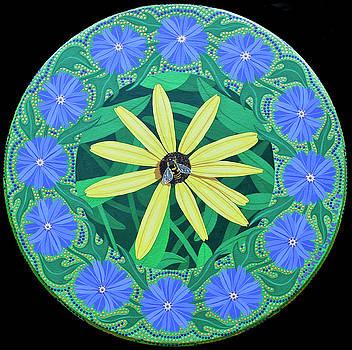 Bee Mandala by Amanda Lynne