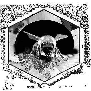 BEE STAMP in BLACK and WHITE by Erika Wain