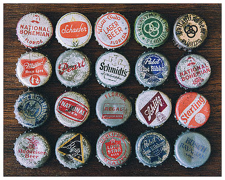 Beer Bottle Caps  by Eric Bjerke