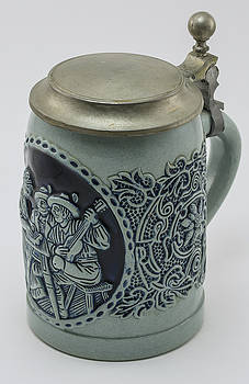 Beer Stein With Lid by Greg Thiemeyer