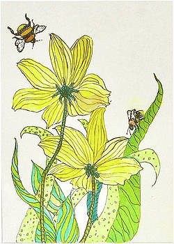 Bees and Flowers by Harriett Masterson