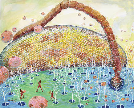Bee's Eye and Antenna by Shoshanah Dubiner