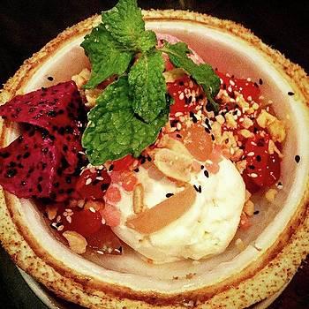 Beetroot And Yoghurt Ice Cream Toasted by Arya Swadharma
